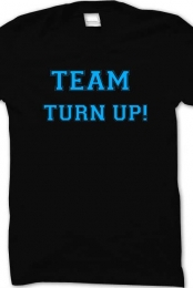 blue Team turn up black crew up