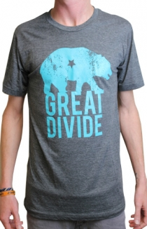 Great Divide Logo (Heather Charcoal w/ Aqua)