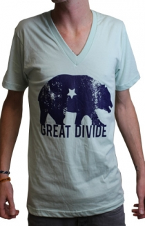 Great Divide Logo V Neck (Mint w/ Navy)