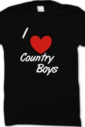 I Heart Country Boys Basic Tee Shirt