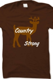 Men Country Strong Basic Tee Shirt
