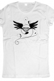 women t-shirt diamond (white)