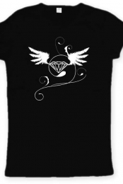 women t-shirt diamond (black)