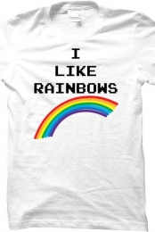 I LIKE RAINBOWS! shirt (white)