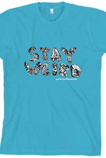 3d18aa24 Stay Weird T-Shirt (Aquamarine) T-Shirt - mckennacaitlinINACTIVE T-Shirts -  Online Store on District Lines
