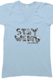 Stay Weird V-Neck (Baby Blue)