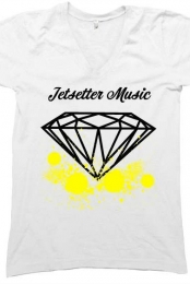 Jetsetter Music Splatter V- Neck