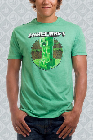 Minecraft Retro Creeper Premium Tee
