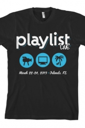 2013 Playlist Live T-Shirt (Black)