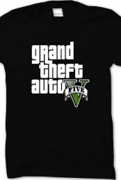 Grand Theft Auto Five Shirt (Black)