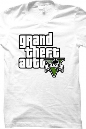 Grand Theft Auto Five Shirt (White)