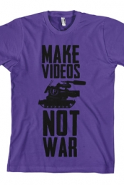 Make Videos Not War (Purple) (Unisex)