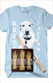 "Blue T-Shirt, Sticks, and ""Part or Execution"" CD Bundle"