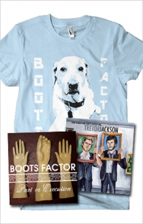 "Blue T-Shirt, ""Part or Execution"" CD, ""Trevor Jackson"" CD Bundle"