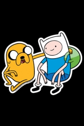Finn and Jake Car Magnet