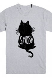 Cat Silhouette Tee (Heather Grey)