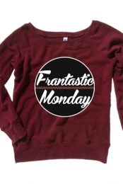 Off-The-Shoulder Frantastic Monday Crewneck