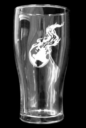 Logo Pint Glass - Tulip Shape
