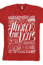 Writing Tee (Red)