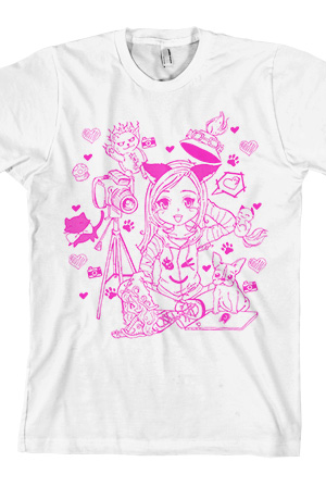 Catrific Cartoon - White Tee