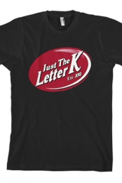 Just the Letter K Logo (Black)