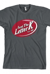 Just the Letter K Logo (Grey)