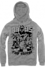 Raw BBoys Do Raw Things Heather Grey Hoodie
