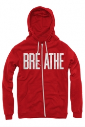Big Breathe Zip Up Hoodie (Red)