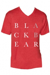 Black Bear Guys V-Neck (Vintage Red)