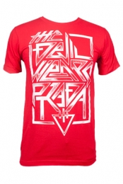 Angled Text Tee (Red)