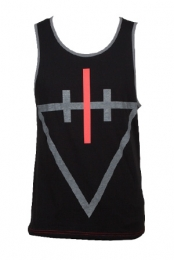 Skull Tank (Black / Red Accent)