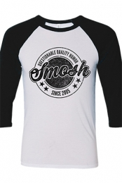 Questionable Quality Humor Girls Raglan (White/Black)