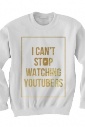 Can't Stop Sweatshirt (Gold Foil on White)