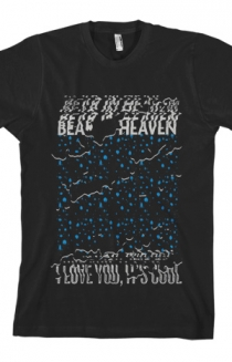 I Love You It's Cool Tee (Blue on Black)