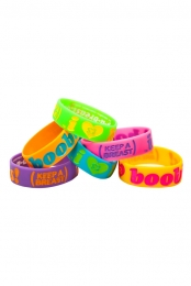 Keep A Breast I Love Boobies! Bracelet - Neon 6 Pack