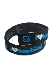 I Love Boobies! Web Belt - Black/Blue