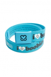 I Love Boobies! Web Belt - Cyan/Black