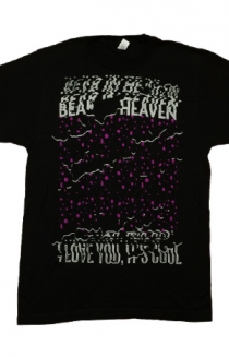 I Love You It's Cool Tee (Fuchsia on Black)