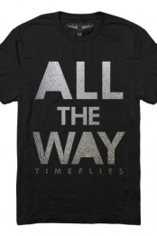 All The Way Tee (Silver Foil on Black)