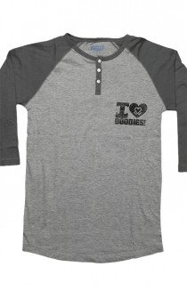 Greenfield Henley - Grey/Black