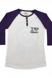Greenfield Henley - White/Purple