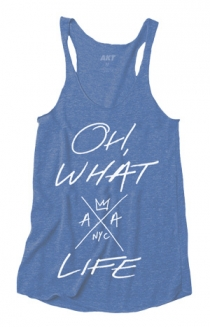 Oh, What A Life Ladies Racerback (Vintage Royal)