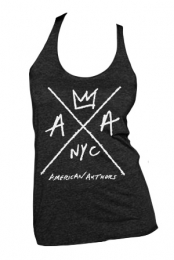 Hand Drawn Logo Ladies Racerback (Vintage Black)