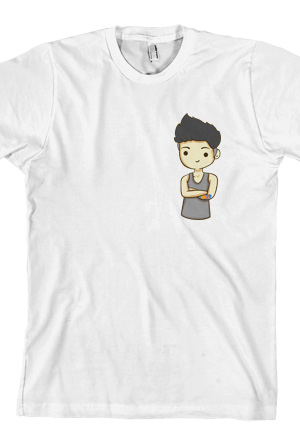 Cartoon Sam Tee White T Shirt Sam Pottorff T Shirts Online