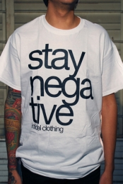 Stay Negative Tee (White)