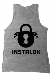 Logo Tank (Heather Grey) - Instalok