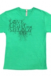 Logo V-Neck (Heather Green)