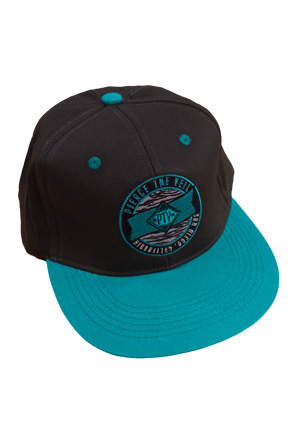 PTV Zebra Snapback (Charcoal And Teal) 3addcf10be95