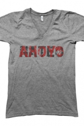 Faded V-Neck (Heather Grey)