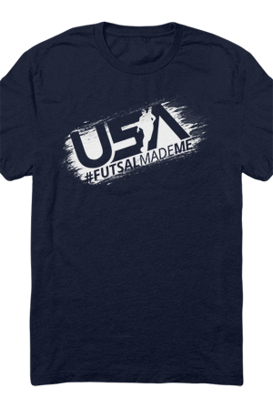 USA Futsal Made Me Tee (Navy)